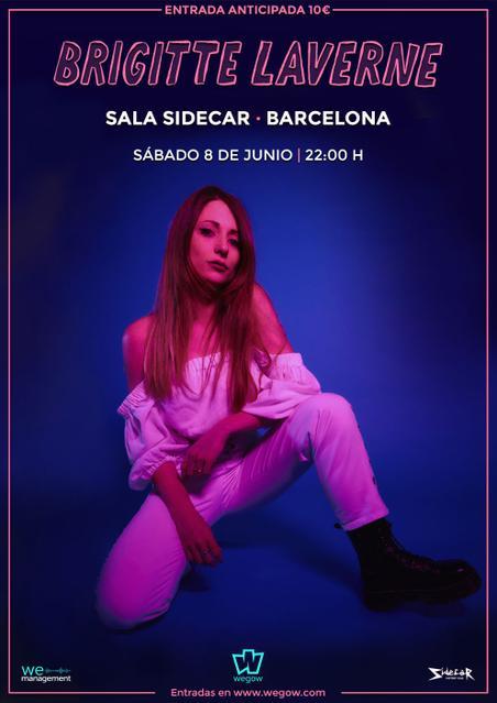 Cartel Brigitte Laverne Barcelona