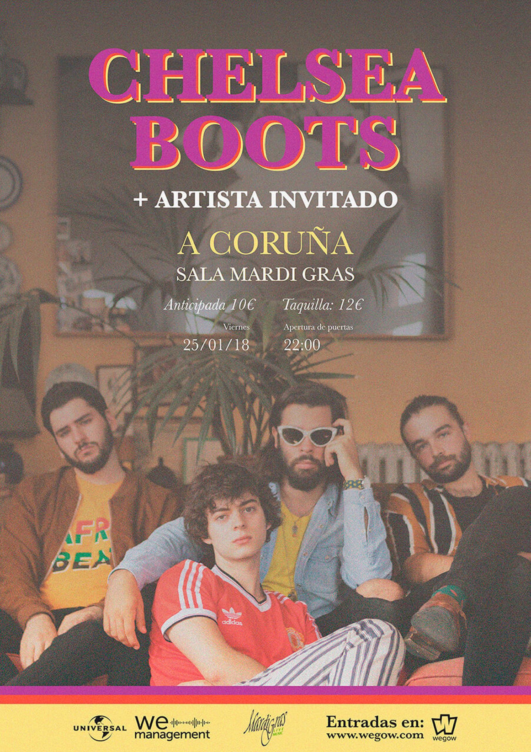 cartel chelsea boots a coruña