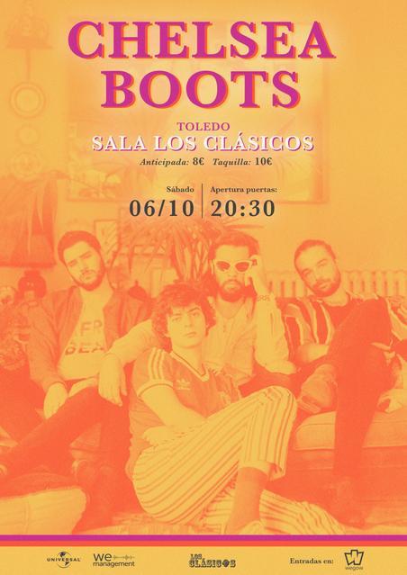 Cartel concierto chelsea boots en los clásicos