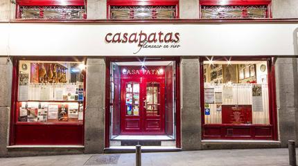 Fachada Casa Patas Noche. Calle de Los Cañizares nº10 de Madrid