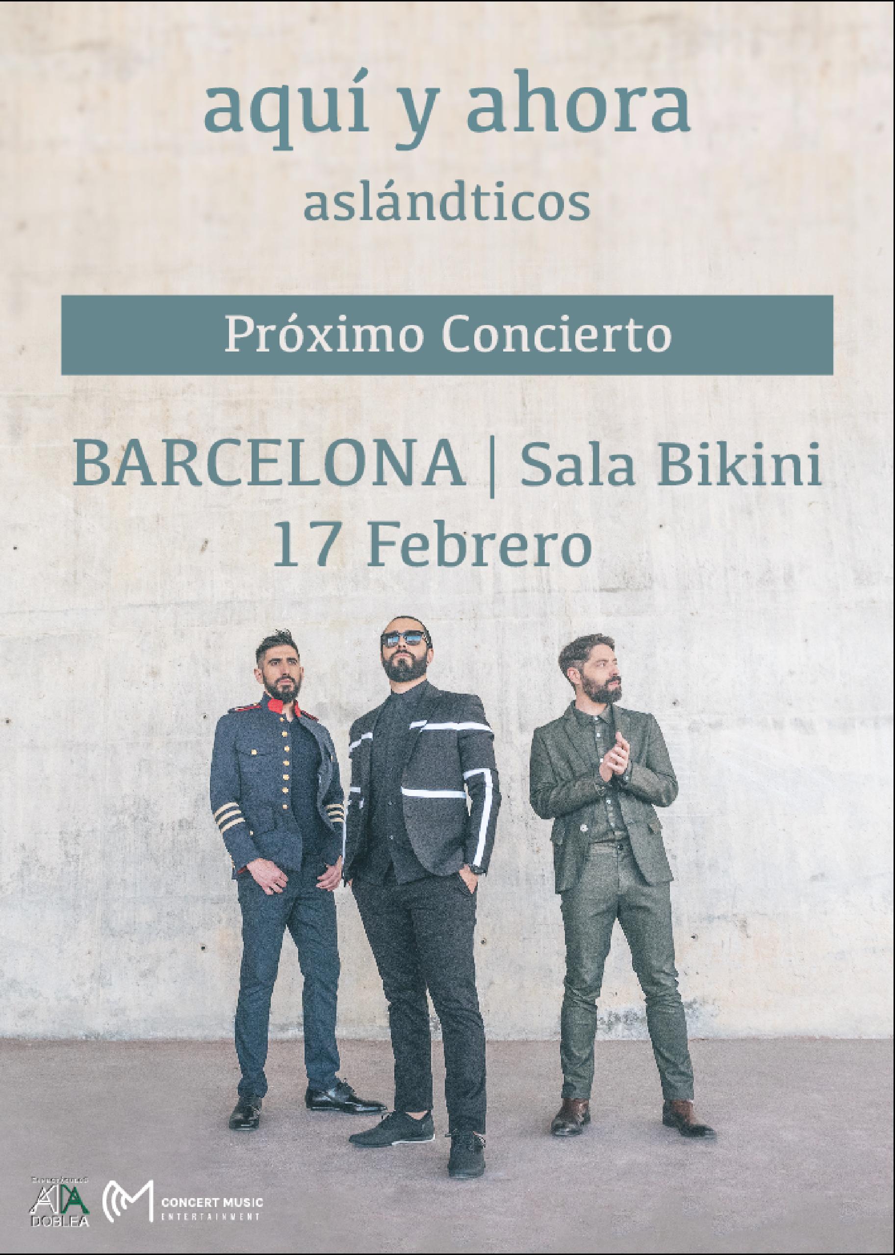 Concierto de Aslándticos en Barcelona