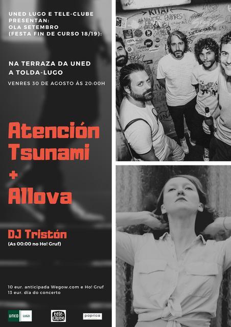 Concierto de Atención Tsunami + Allova en Lugo