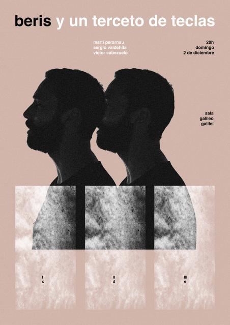 Cartel del concierto de Beris en Madrid