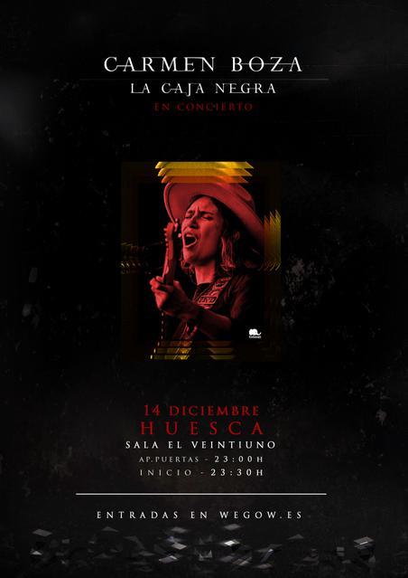 Concierto de Carmen Boza en Huesca