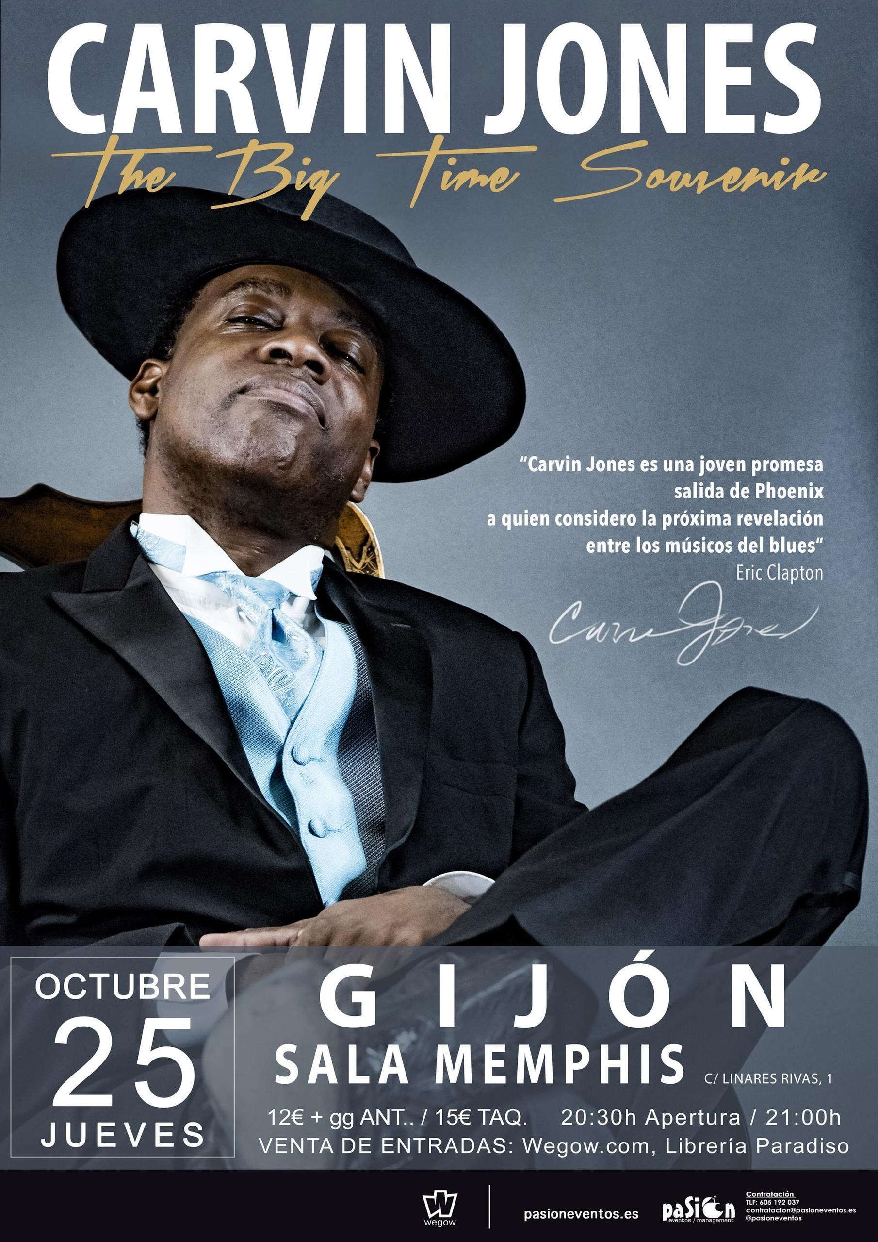 Concierto de Carvin Jones en Gijón