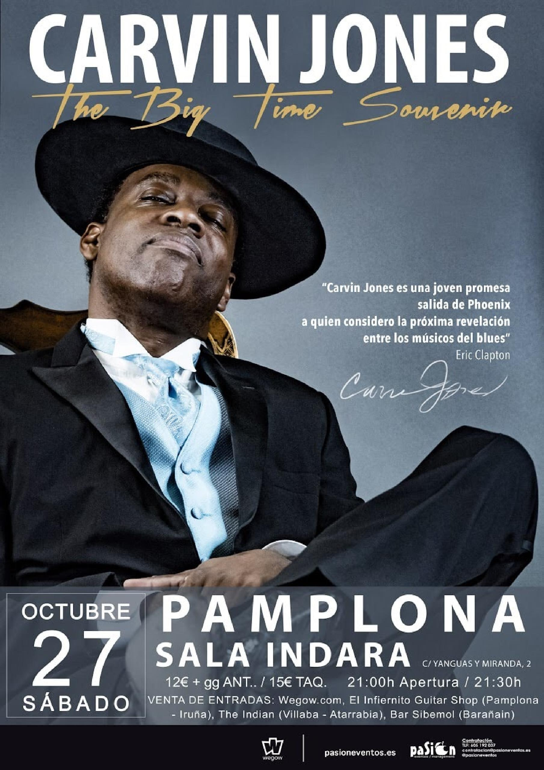 concierto de Carvin Jones en Pamplona