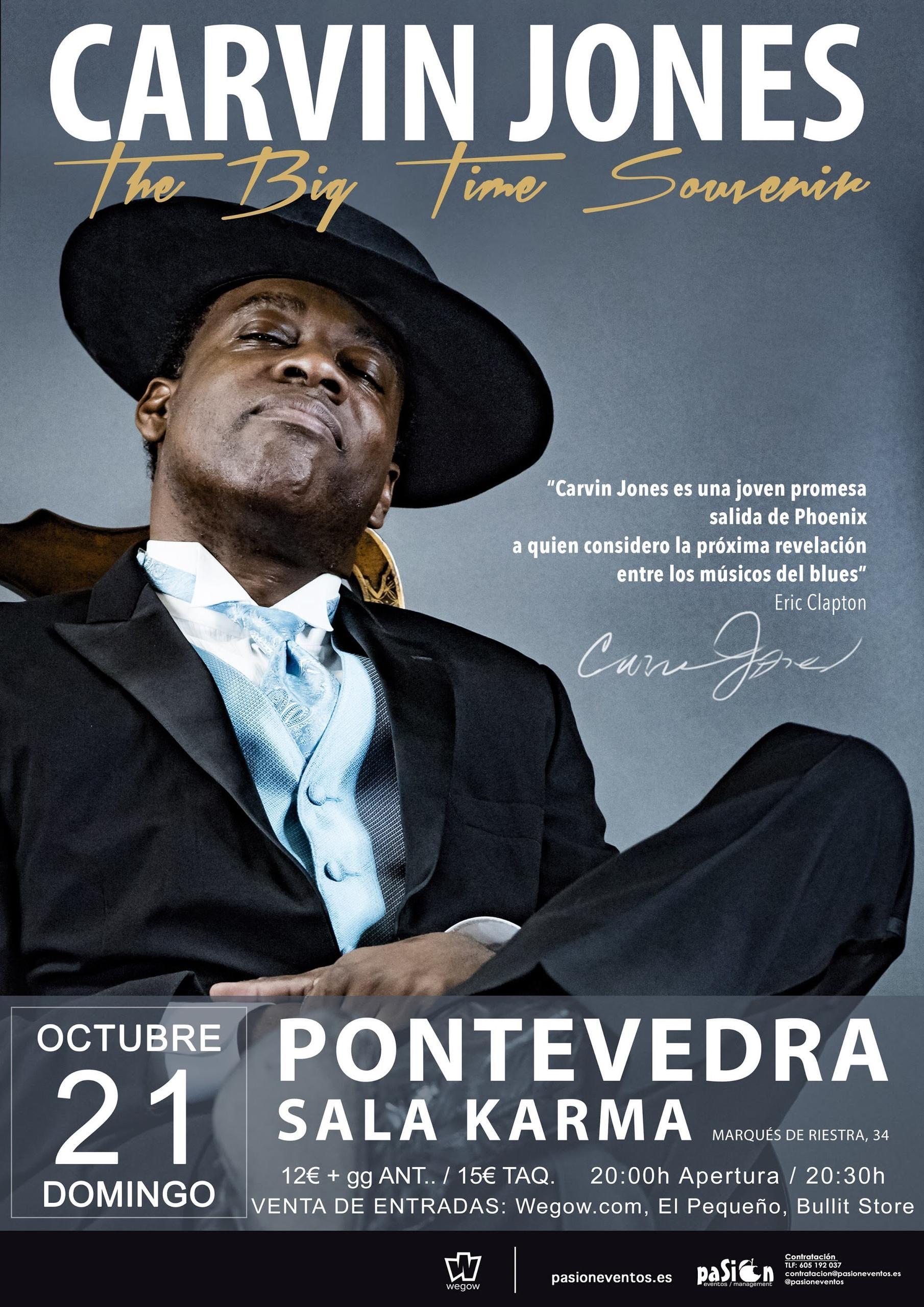 Carvin Jones en Pontevedra