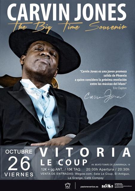 Concierto de Carvin Jones en Vitoria