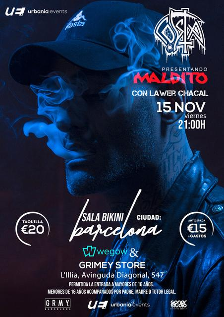 Costa en concierto en Barcelona