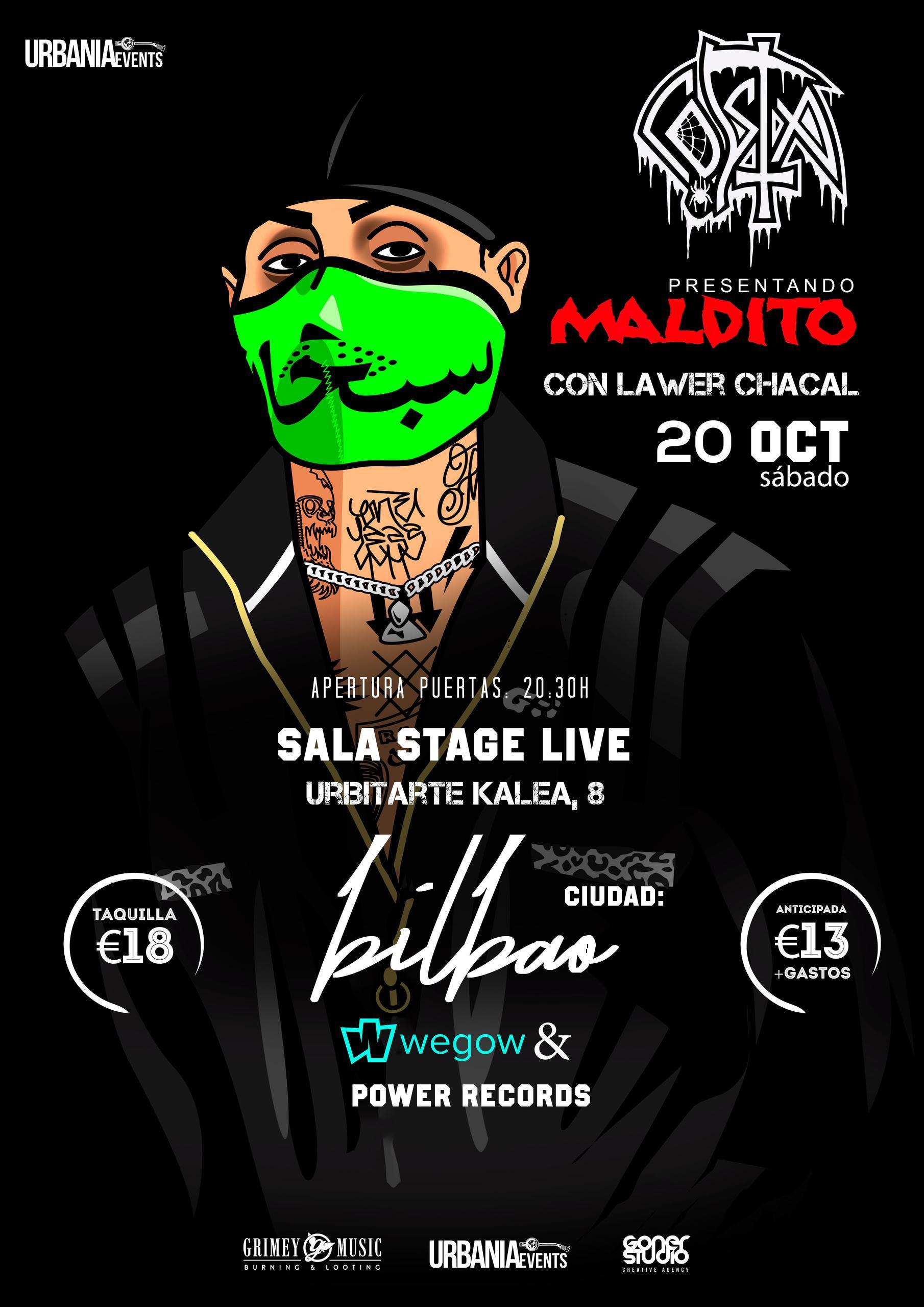 Concierto de Costa en la Sala Stage Live de Bilbao