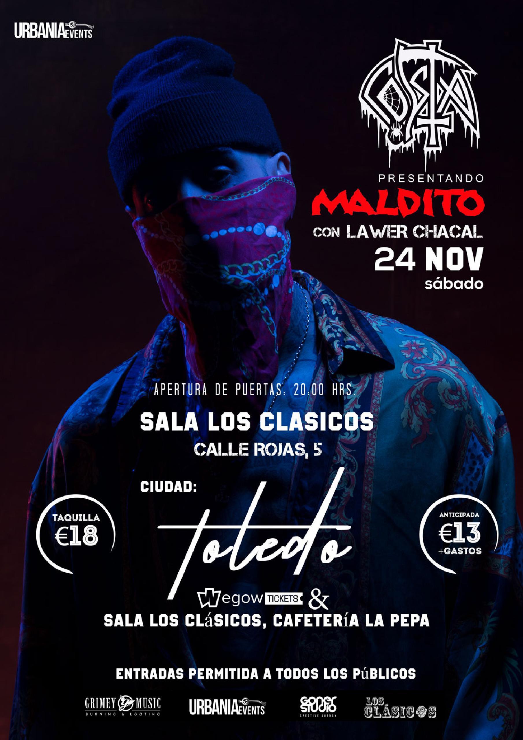Concierto de Costa en la Sala Los Clásicos de Toledo