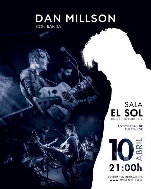 Concierto de Dan Millson con banda en Madrid