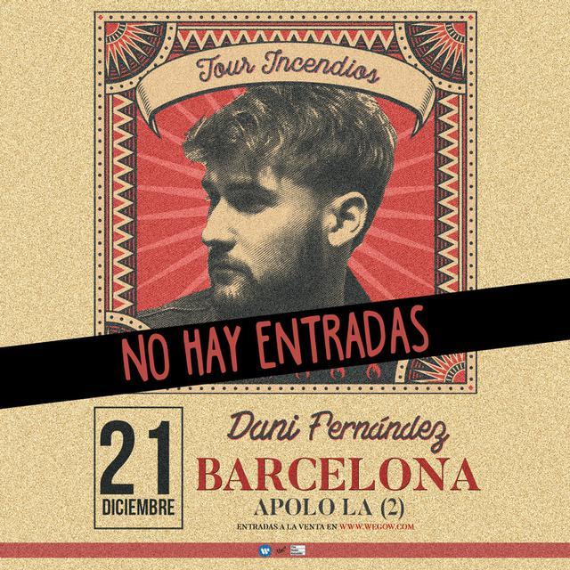 Concierto de Dani Fernández en Barcelona