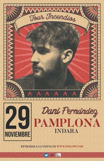 Concierto de Dani Fernández en Pamplona