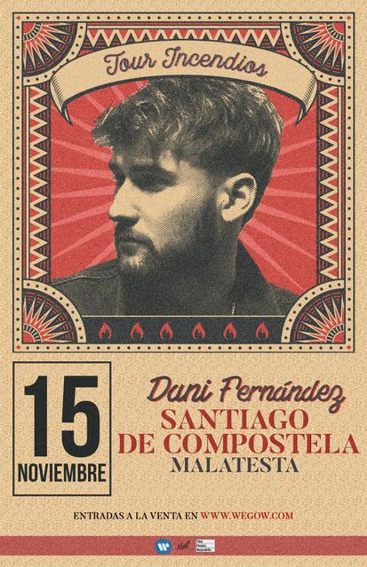 Concierto de Dani Fernández en Santiago de Compostela (A Coruña)