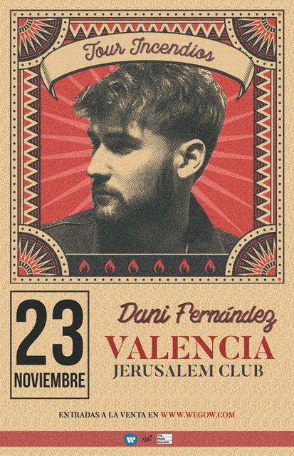 Concierto de Dani Fernández en Valencia