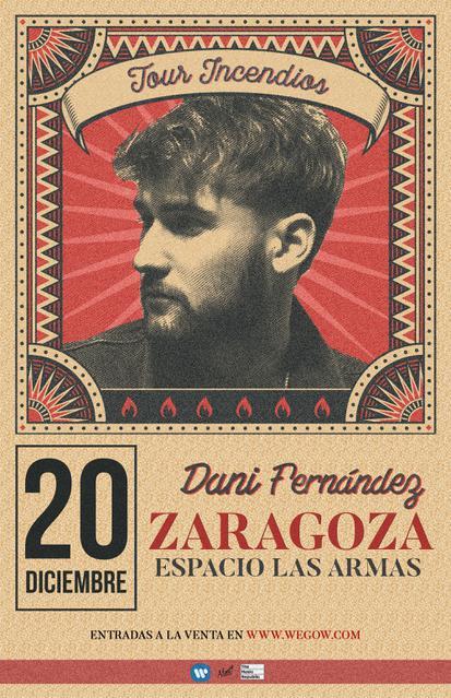 Concierto de Dani Fernández en Zaragoza