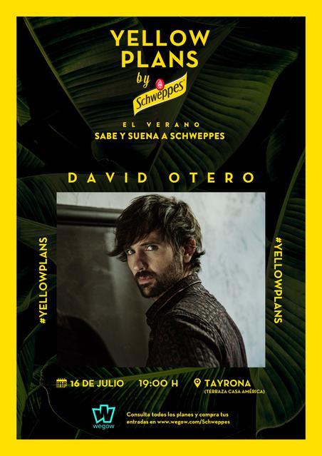Concierto David Otero en Yellow Plans by Schwepes y Wegow