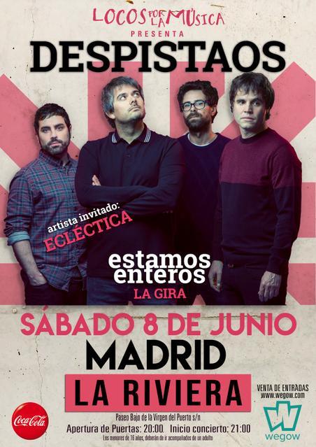 Concierto de Despistaos en Madrid - La Riviera