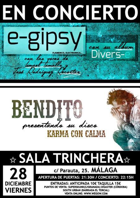 Concierto de E-Gipsy y Bendito en Málaga