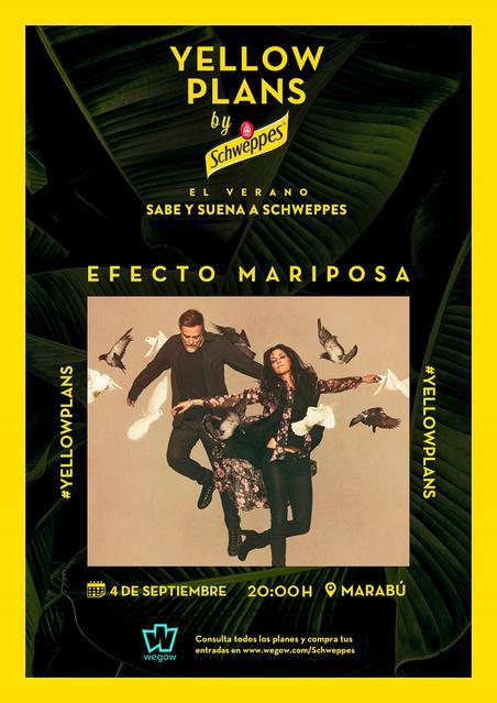 concierto de Efecto Mariposa en Yellow Plans by Schweppes