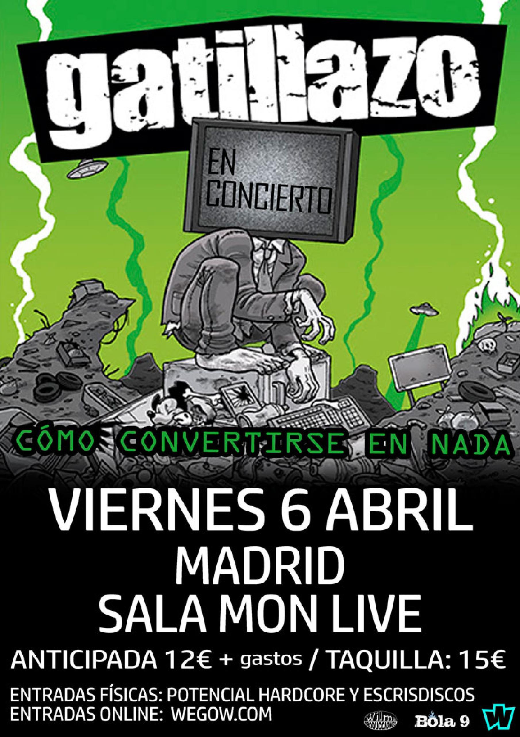 CONCIERTO de GATILLAZO en MADRID