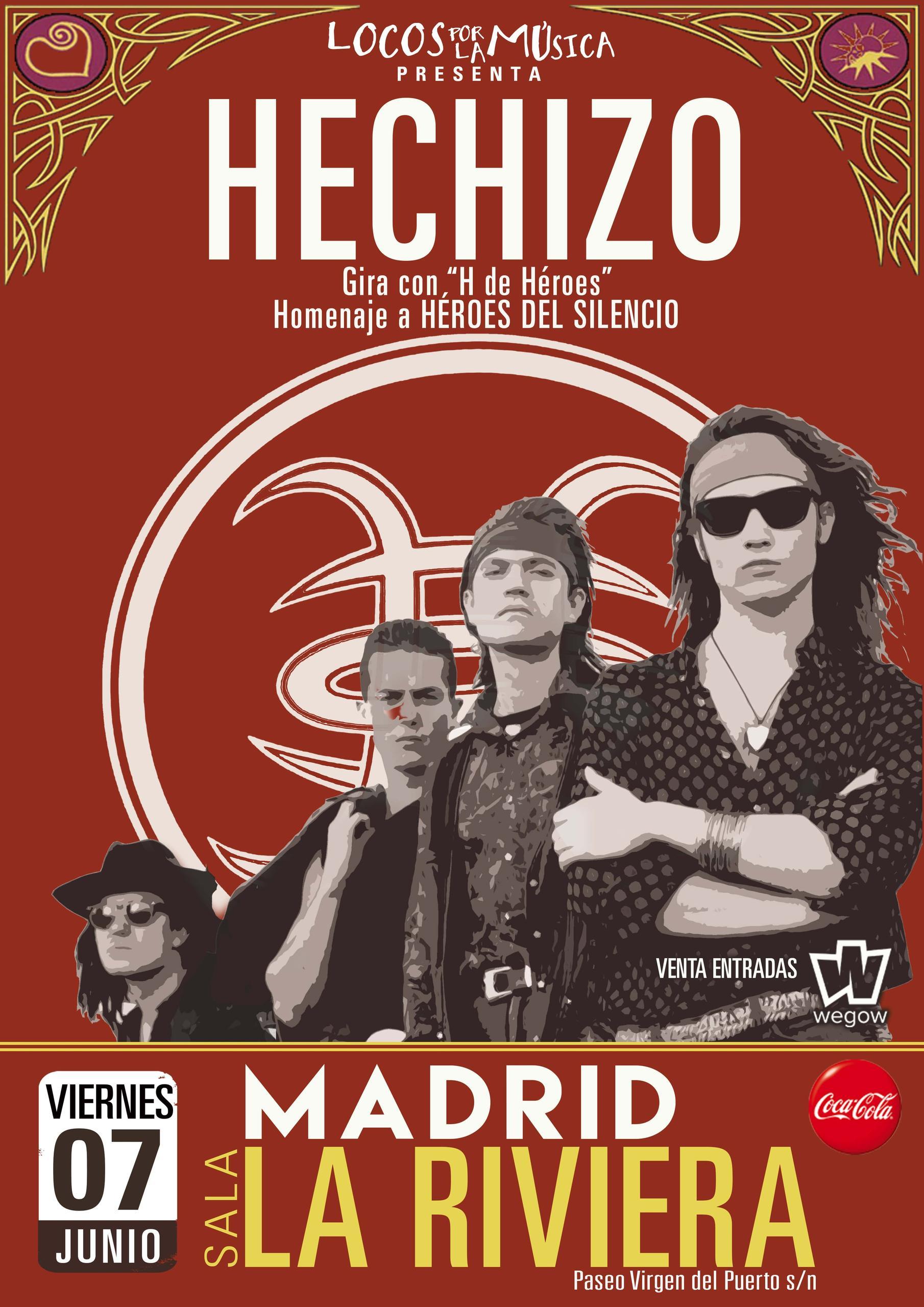 Concierto de Hechizo - Homenaje a Héroes del Silencio en Madrid