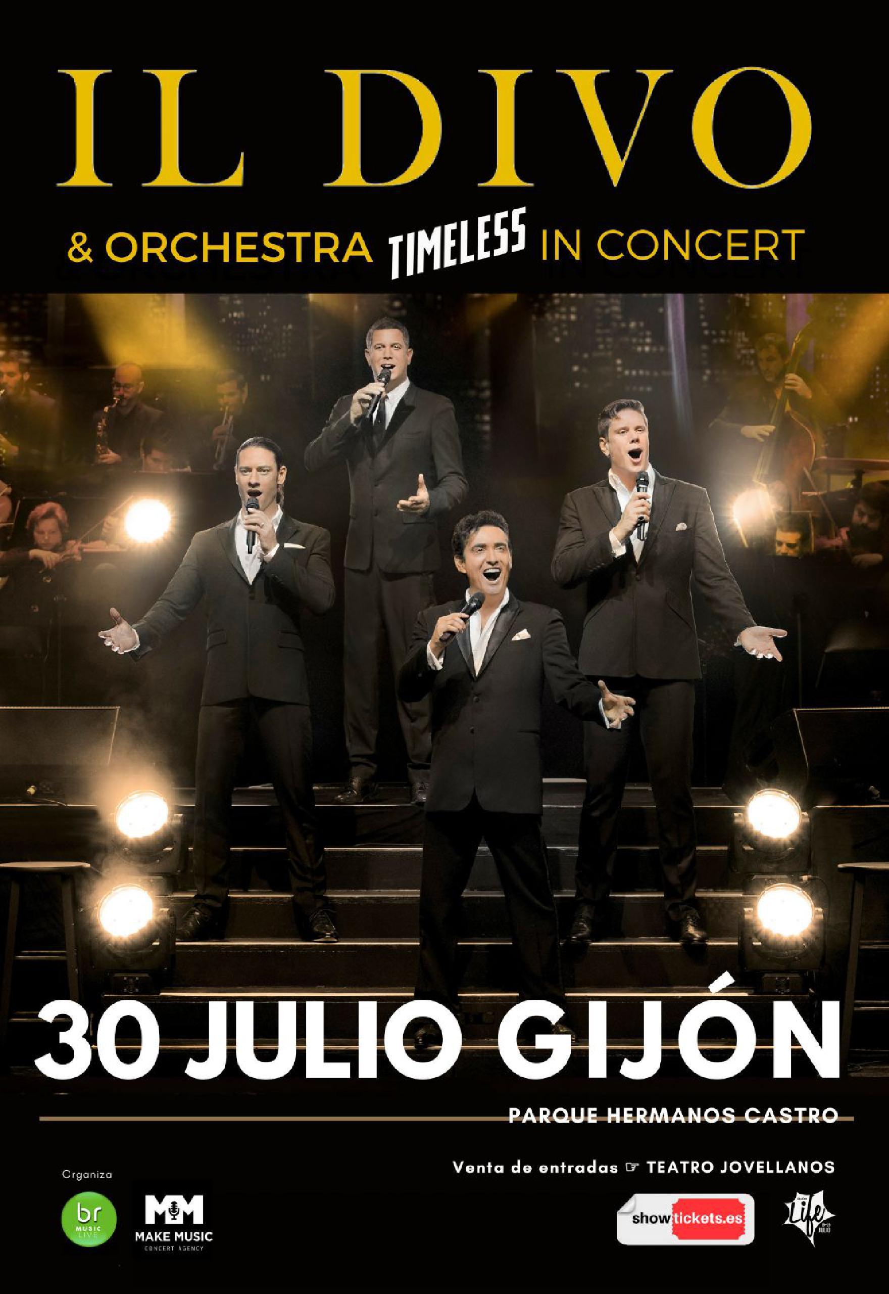 Concierto Il Divo en Gijón. Entradas para ver la gira Timeless Il Divo en España.