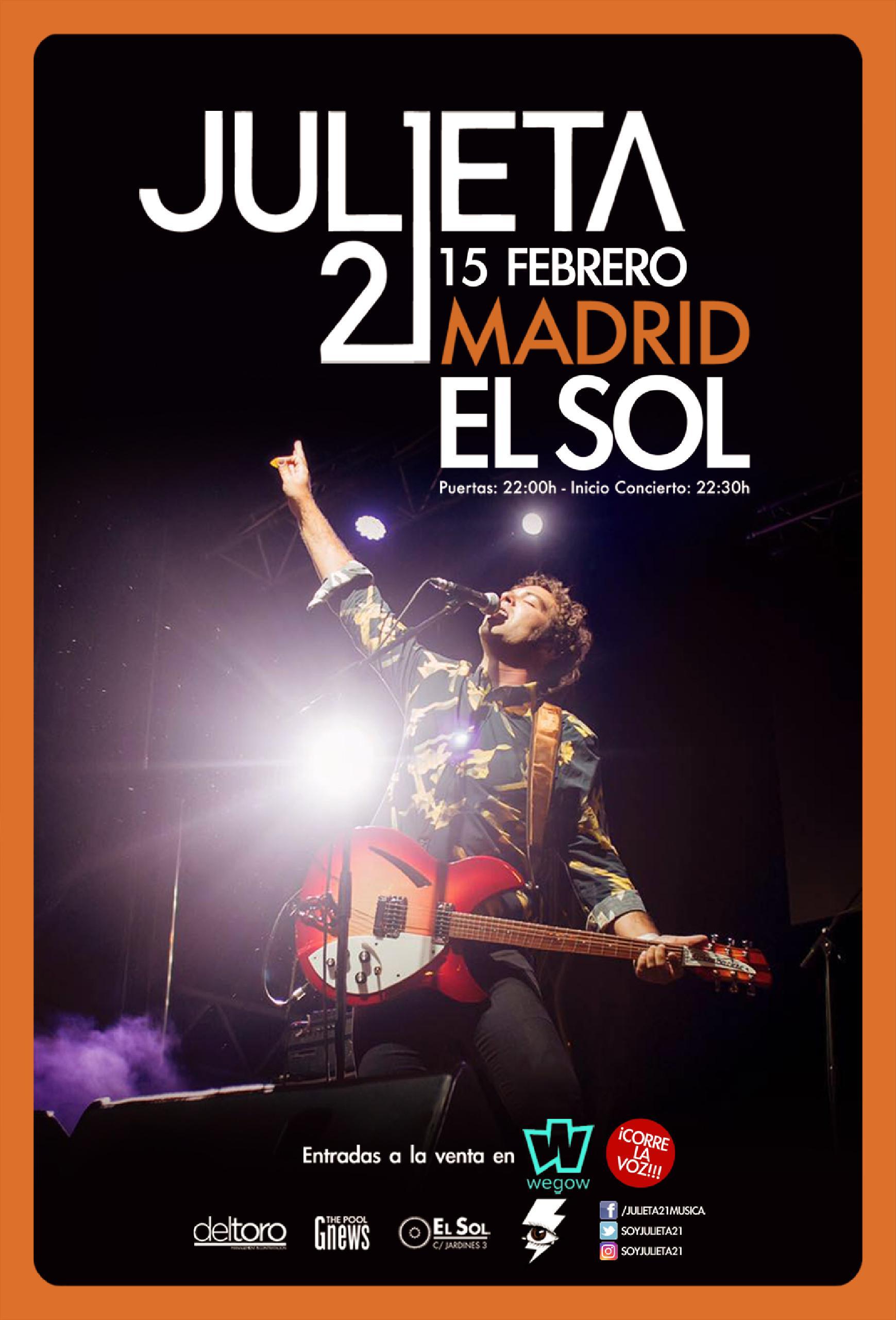Julieta 21 en Madrid
