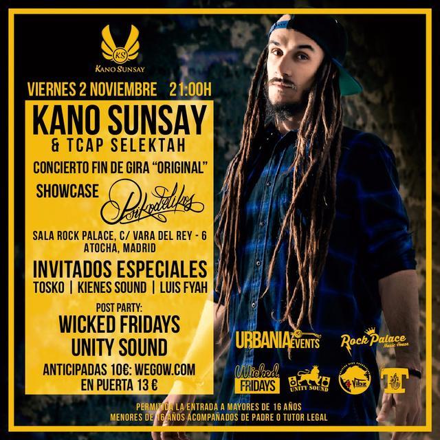 Kano Sunsay en concierto en la Sala Rock Palace de Madrid