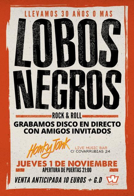 Concierto de Lobos Negros en Madrid en la sala Honky Tonk 2018