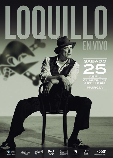Cartel Oficial concierto Loquillo en Murcia.