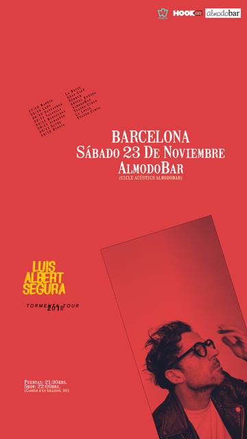 Cartel Luis Albert Barcelona