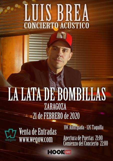 Concierto de Luis Brea en Zaragoza