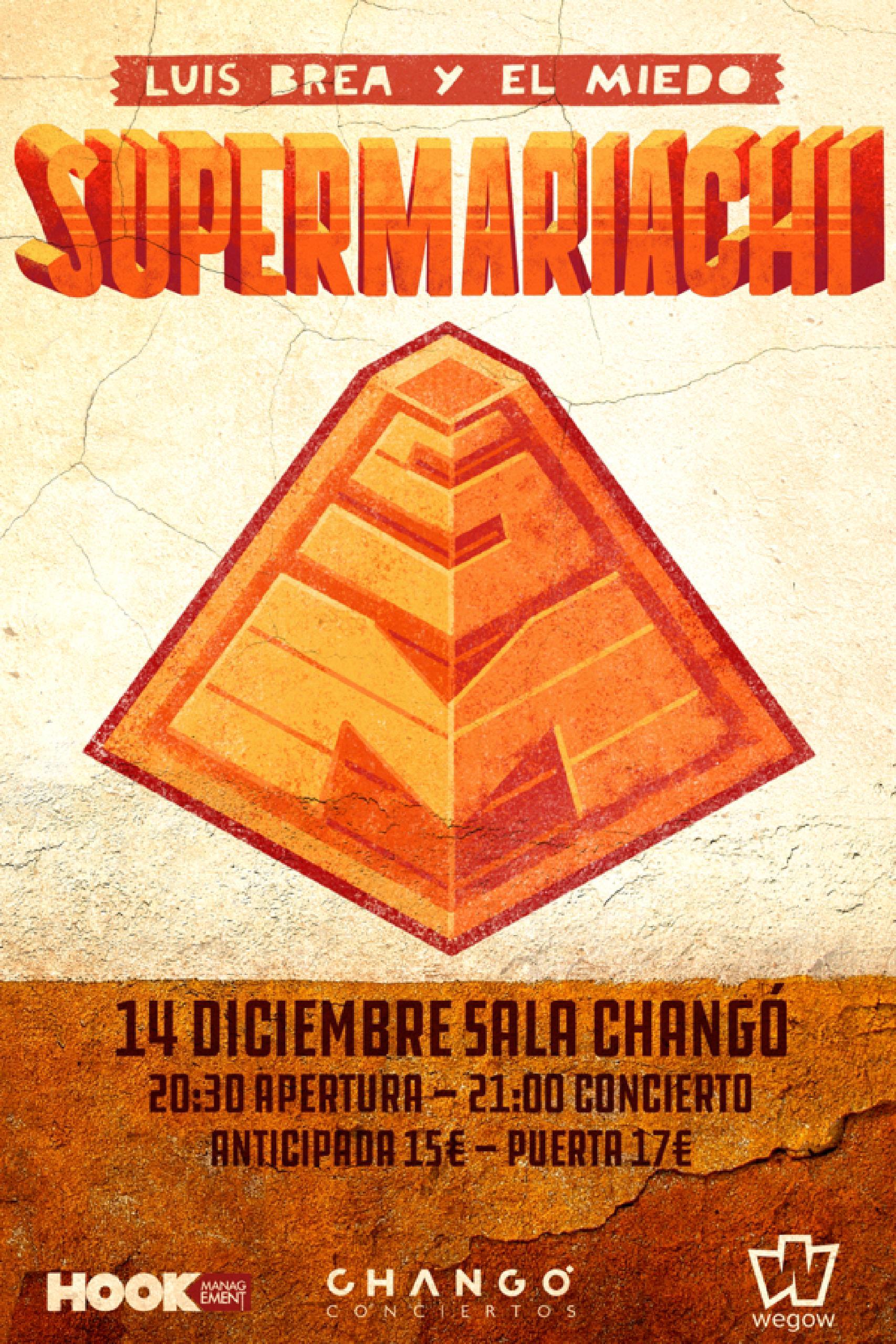 Concierto de Luis Brea y El Miedo en la Sala Changó de Madrid el 14 de diciembre.