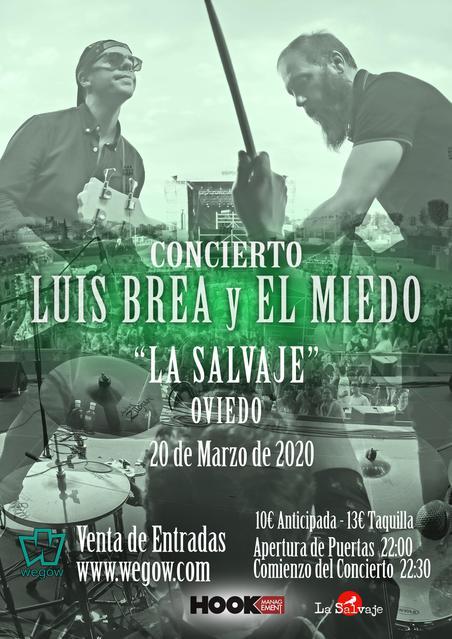 Concierto de Luis Brea y el Miedo en Oviedo