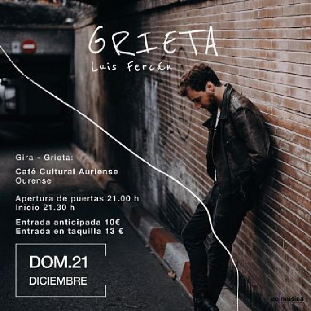 Concierto de Luis Fercán en Ourense