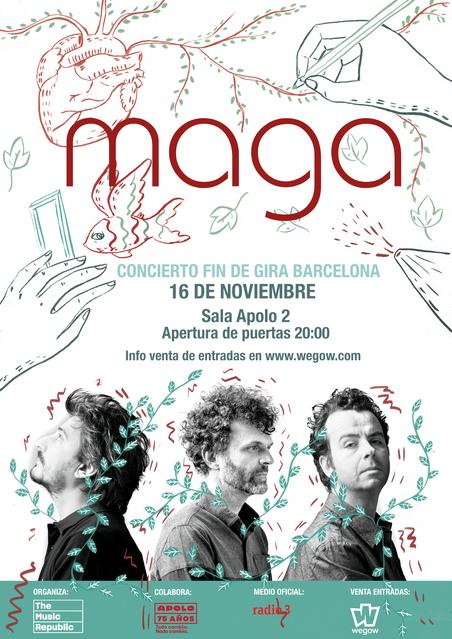 Concierto de Maga en Barcelona