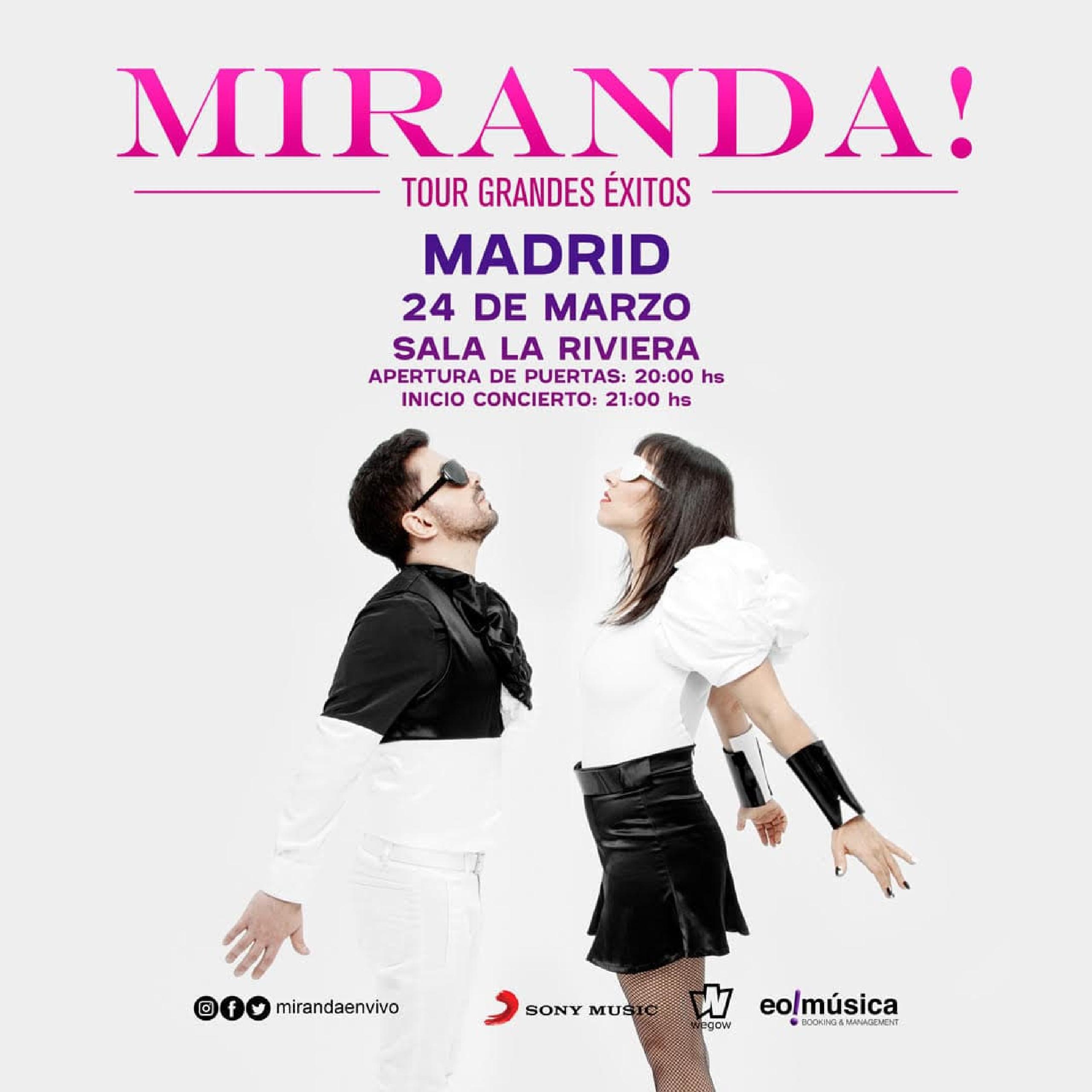 Concierto de Miranda! en Madrid