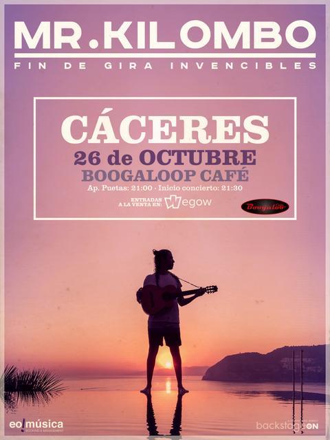 Concierto de Mr. Kilombo en Cáceres