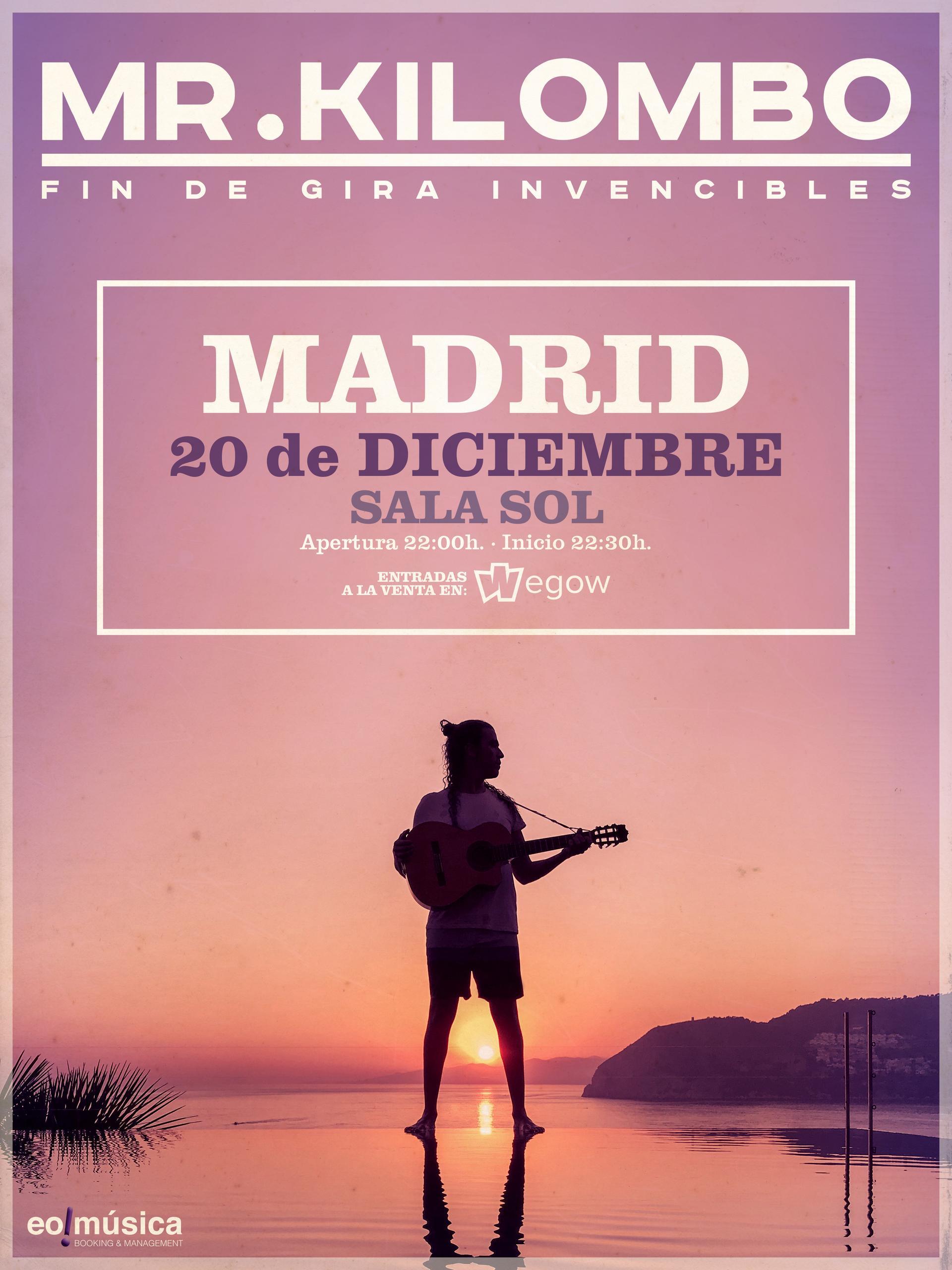 Concierto de Mr. Kilombo en Madrid