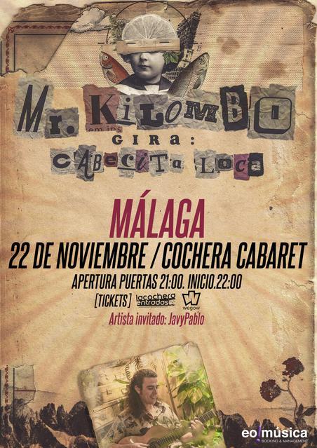 Concierto de Mr. Kilombo en Málaga