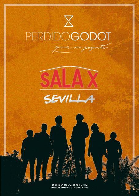 Cartel promocional del próximo concierto el 24 de Octubre en la Sala X, C/José Díaz (Sevilla)