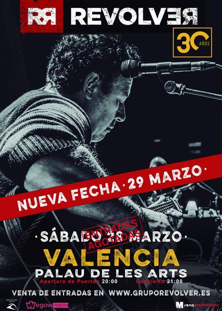 Concierto de Revolver en Valencia - Gira 30 años (Segunda Fecha)