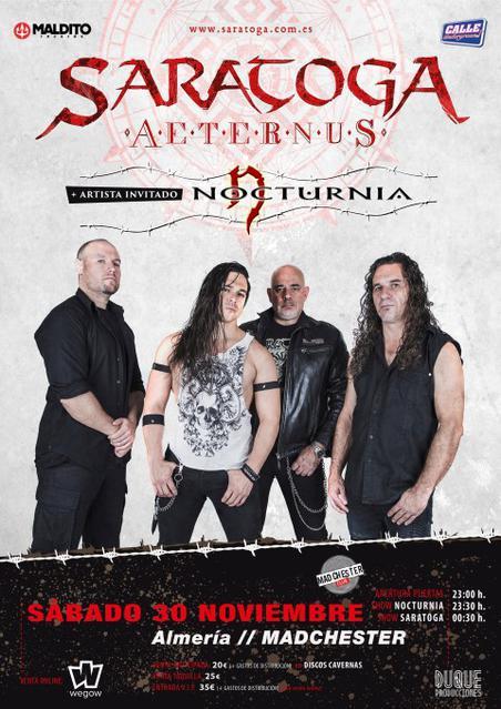 Concierto de Saratoga en Almería - Sala Madchester
