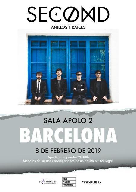 Concierto de Second en Barcelona