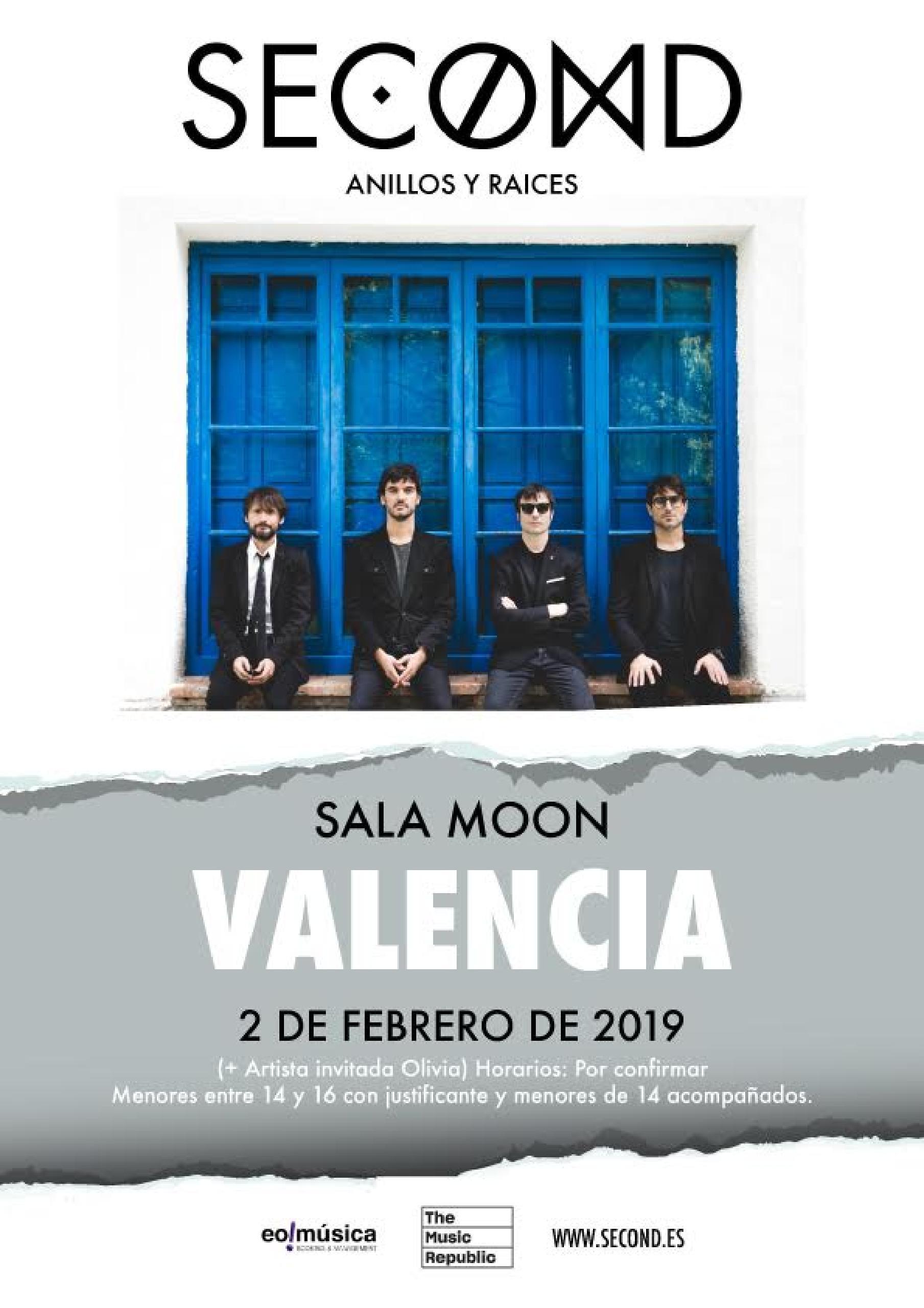 Concierto de Second en Valencia