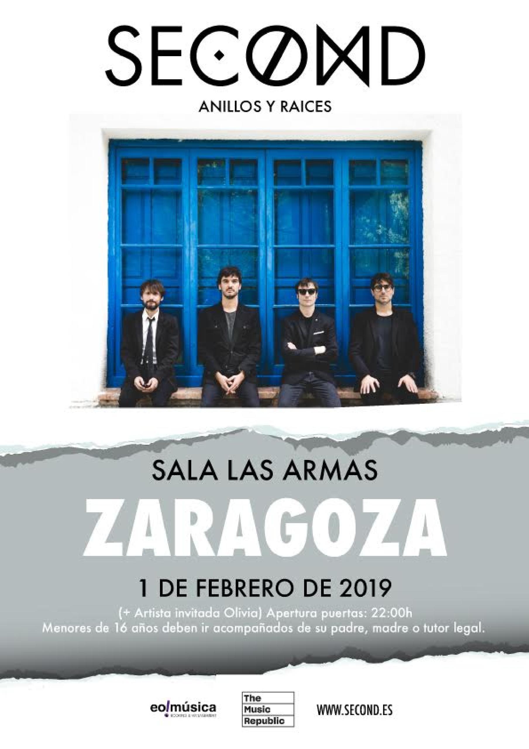 Concierto de Second en Zaragoza