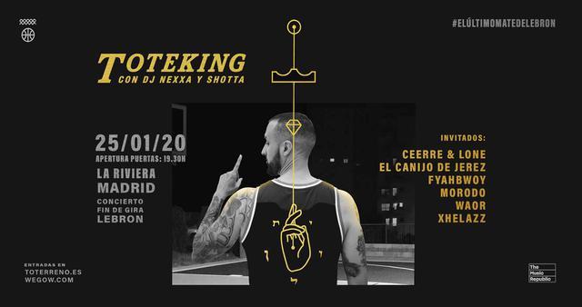 Concierto de Tote King en Madrid, La Riviera