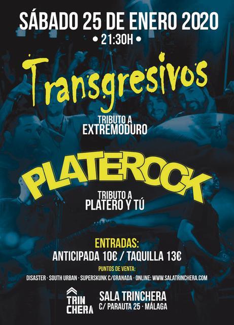 Concierto de Transgresivos y Platerock en Sala Trinchera